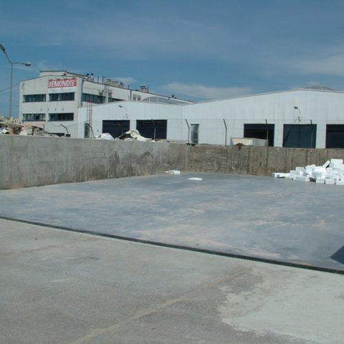 REMONDIS Sanitech Poznań  - budowa placów - zasieków nastłuczkę szklaną wraz zinfrastrukturą odcieku technologicznego. Generalne Wykonawstwo - 2011