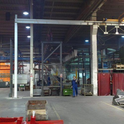 Fabryka KONGSKILDE Polska Kutno - nadzór inżynierski nadmontażem konstrukcji suwnicy dla ABUS 2012