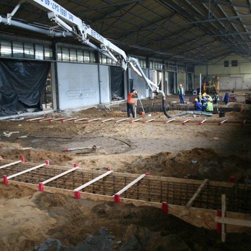 Konstrukcje żelbetowe podsuwnice dla ABUS wzakładach SPINKO, Leszno, 2013