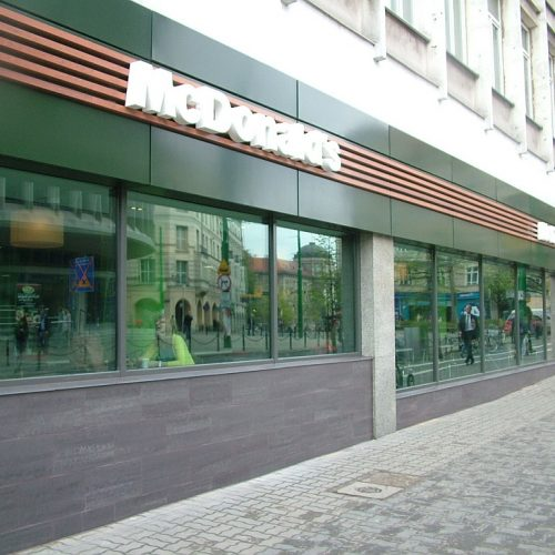 Remont elewacji restauracji McDonald`s, Poznań, ul.27 Grudnia - 2013
