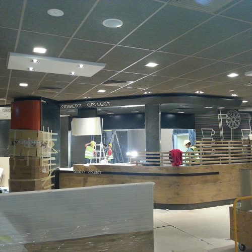 Modernizacja Terminala - Portu Lotniczego im.Chopina wWarszawie - budowa restauracji McDonald`s - 2014