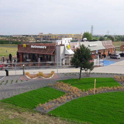 Budowa nowej restauracji sieci McDonald's, Komorniki k. Poznania, 2017