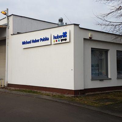Roboty posadzkowe dla hali magazynowej firmy HUBER Polska naterenie PARK Grunwald wPoznaniu, 2017