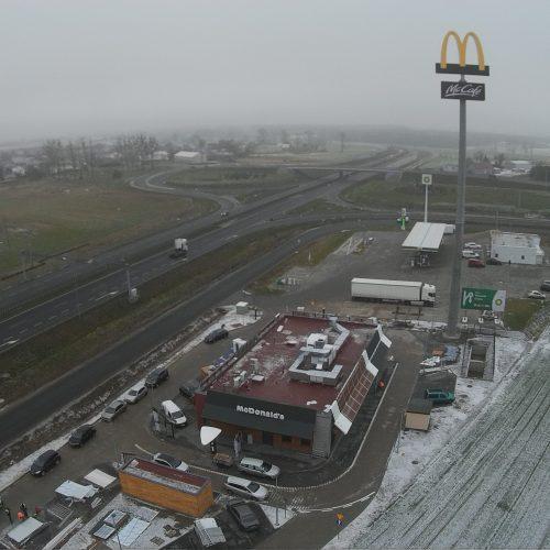 Budowa restauracji sieciowej McDonald's przy drodze S11 obwodnicy Poznania  k. Rokietnicy – 2017