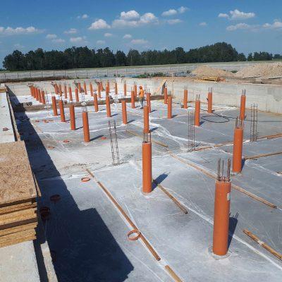 Budowa chlewni dla firmy HOG SLAT, Skowroda k. Łowicza, 2018