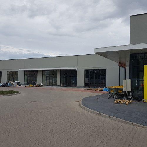 Roboty budowlane dla ACTION Poland Sp. zo.o., budynek handlowy przy ul.Zamkowej wSzamotułach, 2018