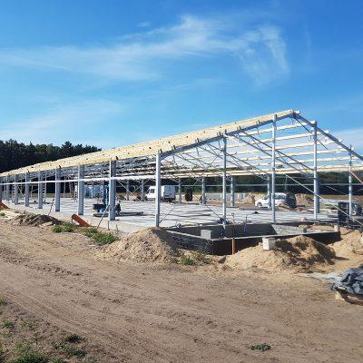 Budowa chlewni dla koncernu HOG SLAT wm. Rześnikowo k. Gryfic, 2018
