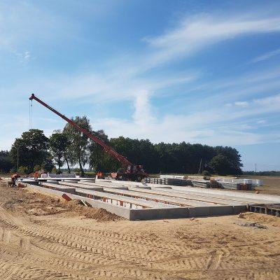 Budowy chlewni dla koncernu HOG SLAT wm. Rymań  k. Gryfic, 2018
