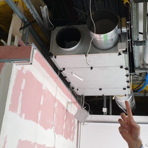 Instalacje wentylacyjno-klimatyzacyjne dla prywatnej szkoły muzycznej, Poznań, 2019