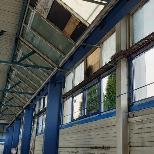 Prace modernizacyjne ślusarki okiennej idachu istniejącej hali produkcyjnej, NGR Technologie, Grodzisk Wlkp., 2019