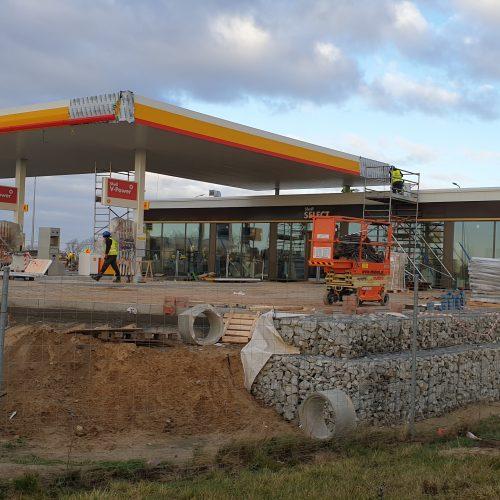 Budowa dwóch stacji paliw koncernu SHELL przy drodze S5, Siekierki iCzerlejno k. Poznania / 2019