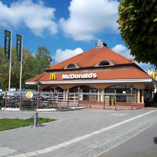 Prace modernizacyjne restauracji McDonald's, Warszawa ul.Wiertnicza