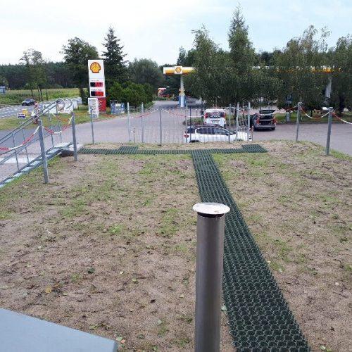 Modernizacja stacji paliw SHELL, Makowiska k.  Solca Kujawskiego, 2020