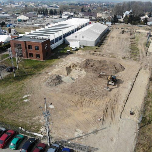 Przygotowania budowy hali produkcyjno-magazynowej NGR Technologie, Grodzisk Wlkp., 2020